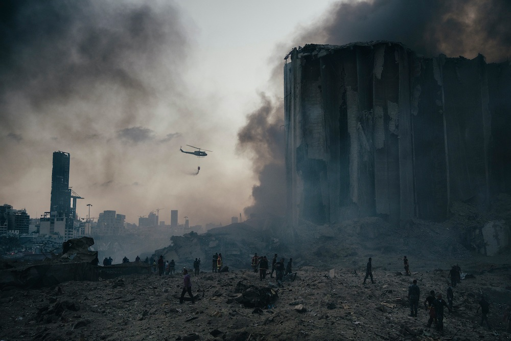 ©️ Lorenzo Tugnoli, Port Explosion in Beirut, 2020