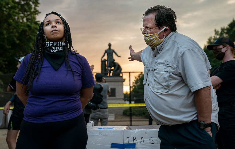 ©️ Evelyn Hockstein, Emancipation Memorial Debate, 2020